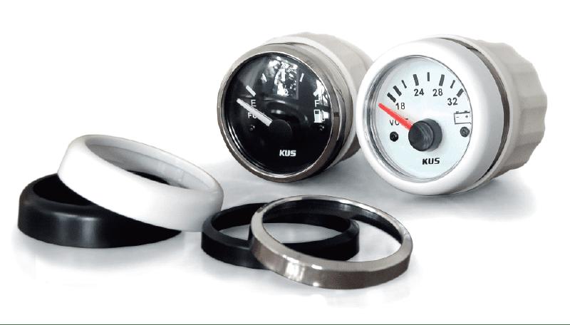 KUS Fuel & Voltmeter Analog Gauges