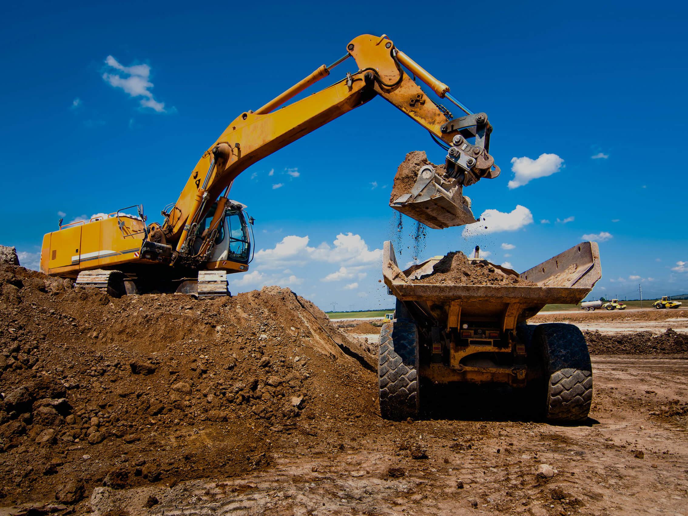 Excavator & Dump Truck