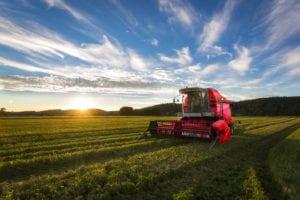 KUS Combine Harvester in Sunset Light