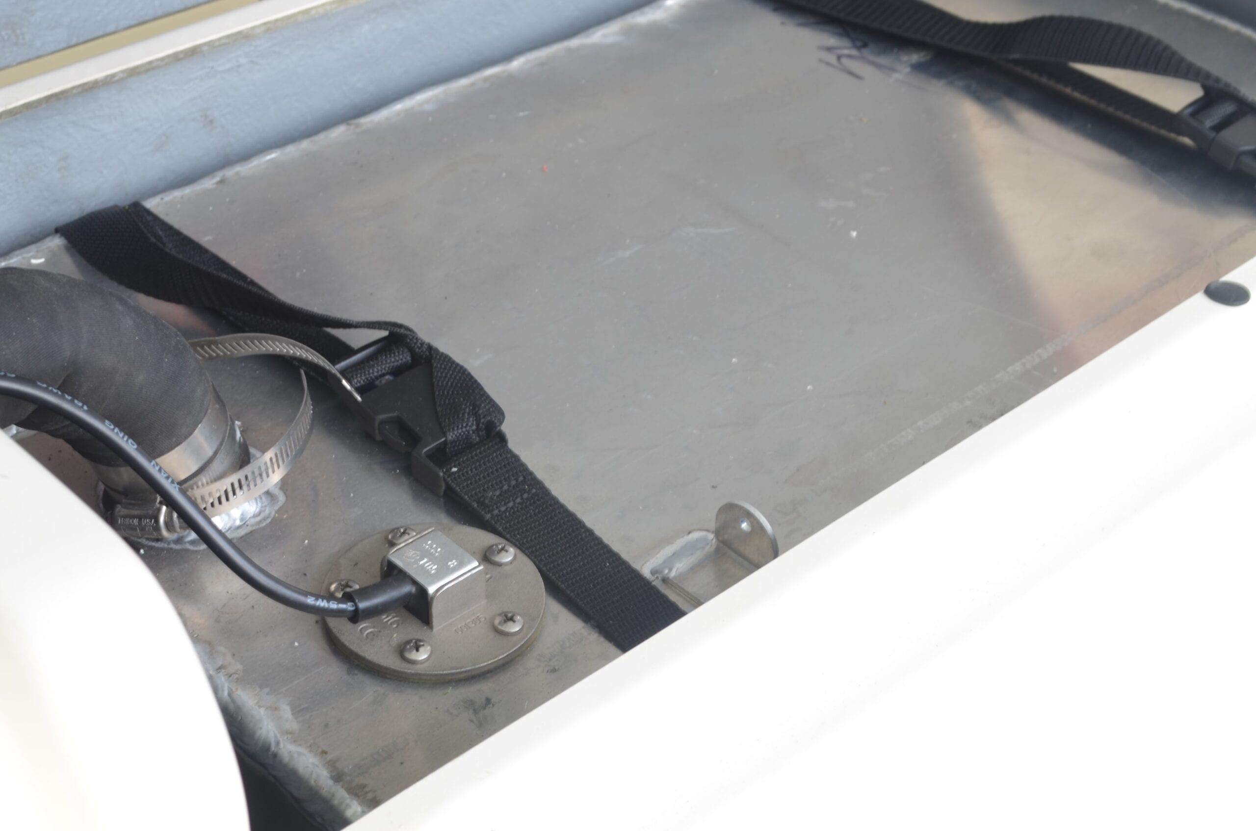 Fuel Level Sender Installed on Aluminum Tank