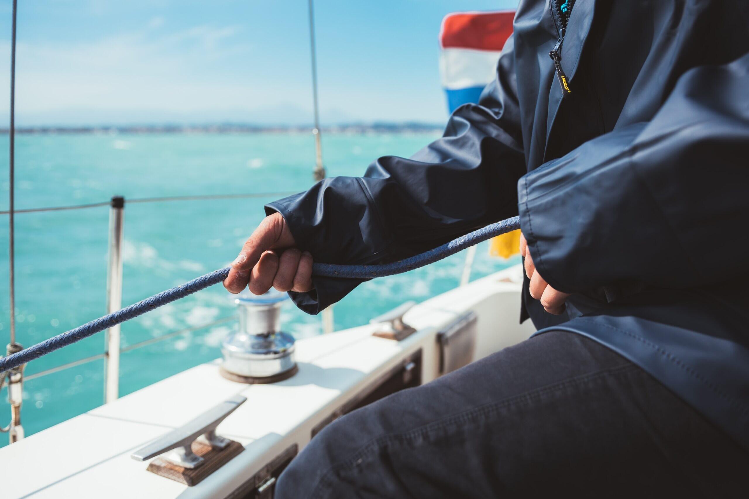 Man Fishing on a Sunny Summer Morning
