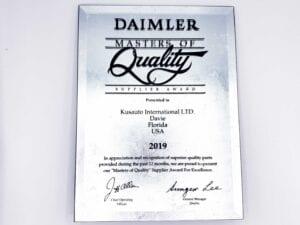 Daimler Masters of Quality Award