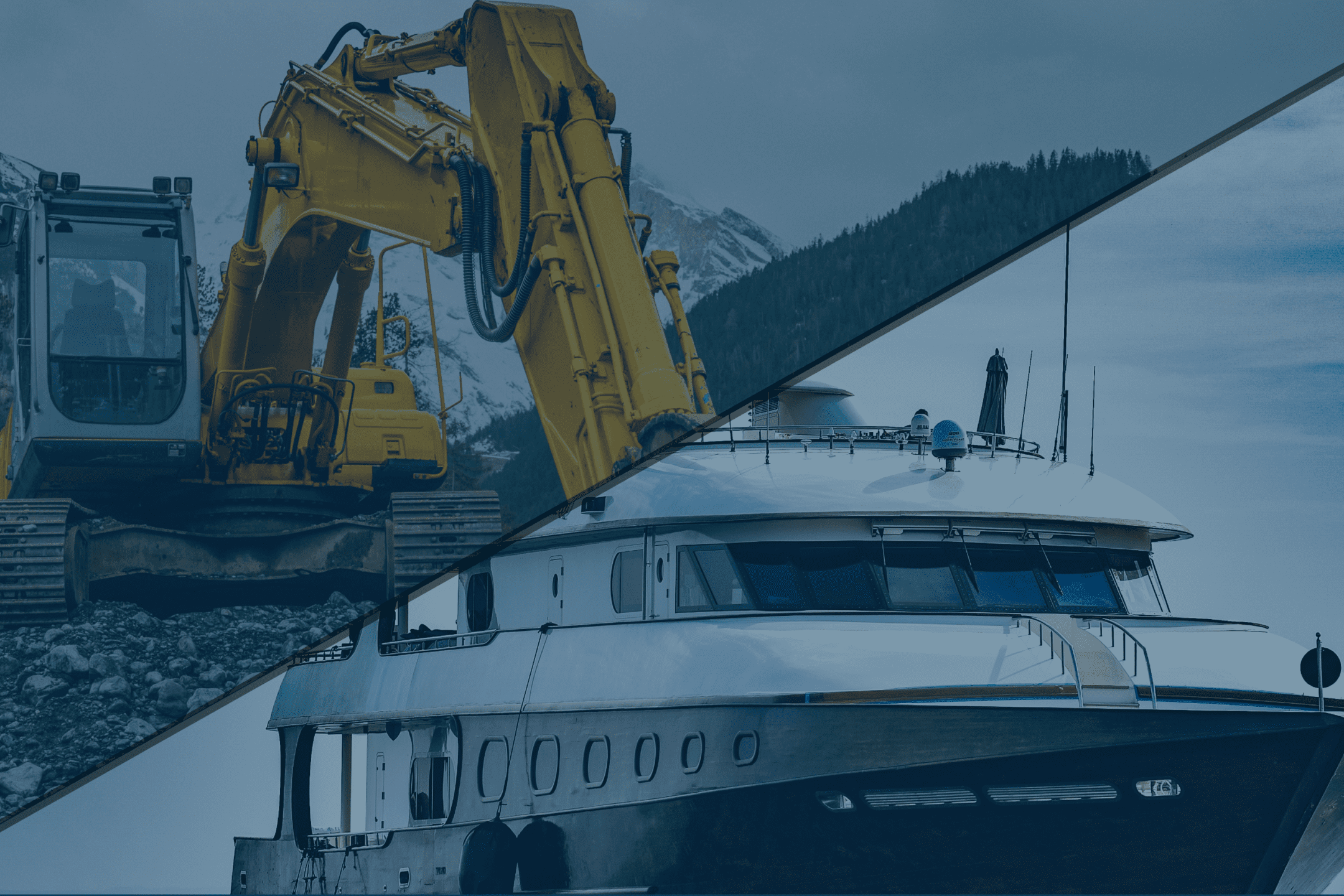 Excavator & Boat