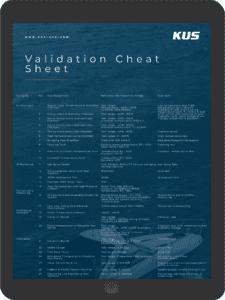 Validation Cheat Sheet